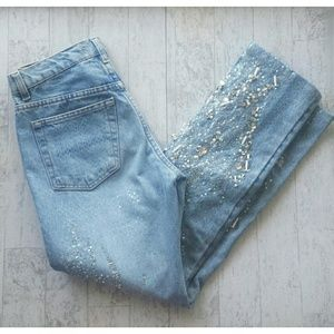 Roberto Cavalli Beaded Ankle Jeans size xsmall